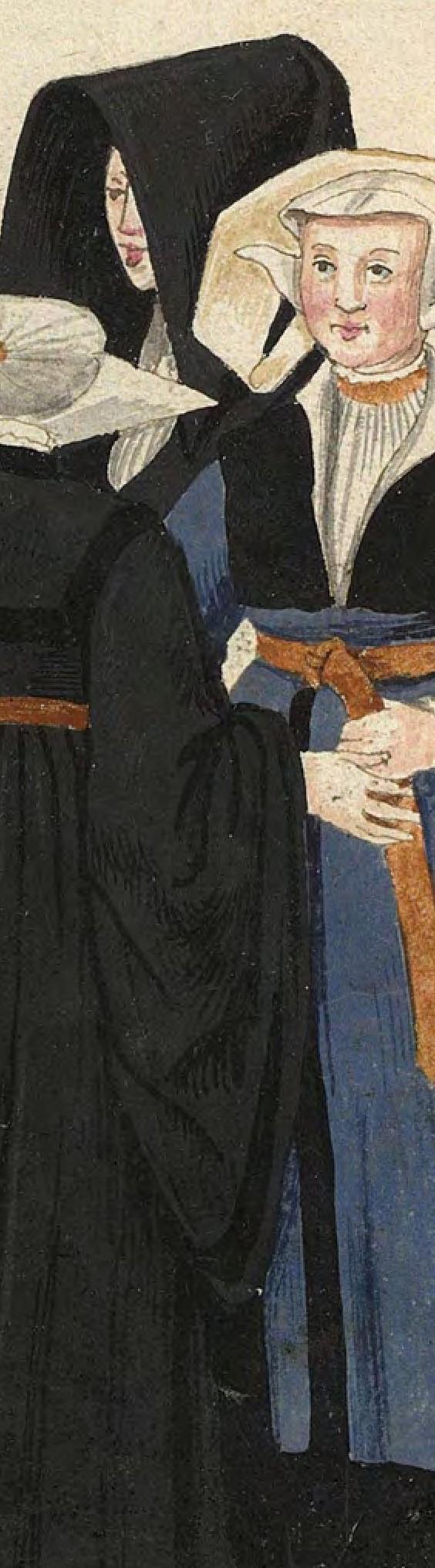 1540s Cologne Burger. Fig. 4, plate 45r, Codice de trajes, Christoph Weiditz. BNE bdh0000052132