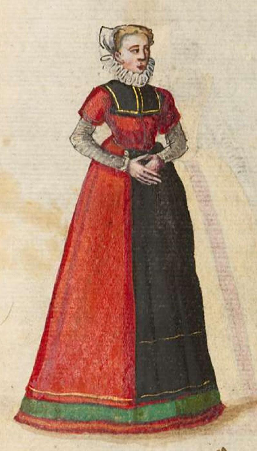 after 1575, Cologne. Fig. 1, ill. 60, Kostüme und Sittenbilder des 16. Jahrhunderts [...] BSB Cod.icon. 361