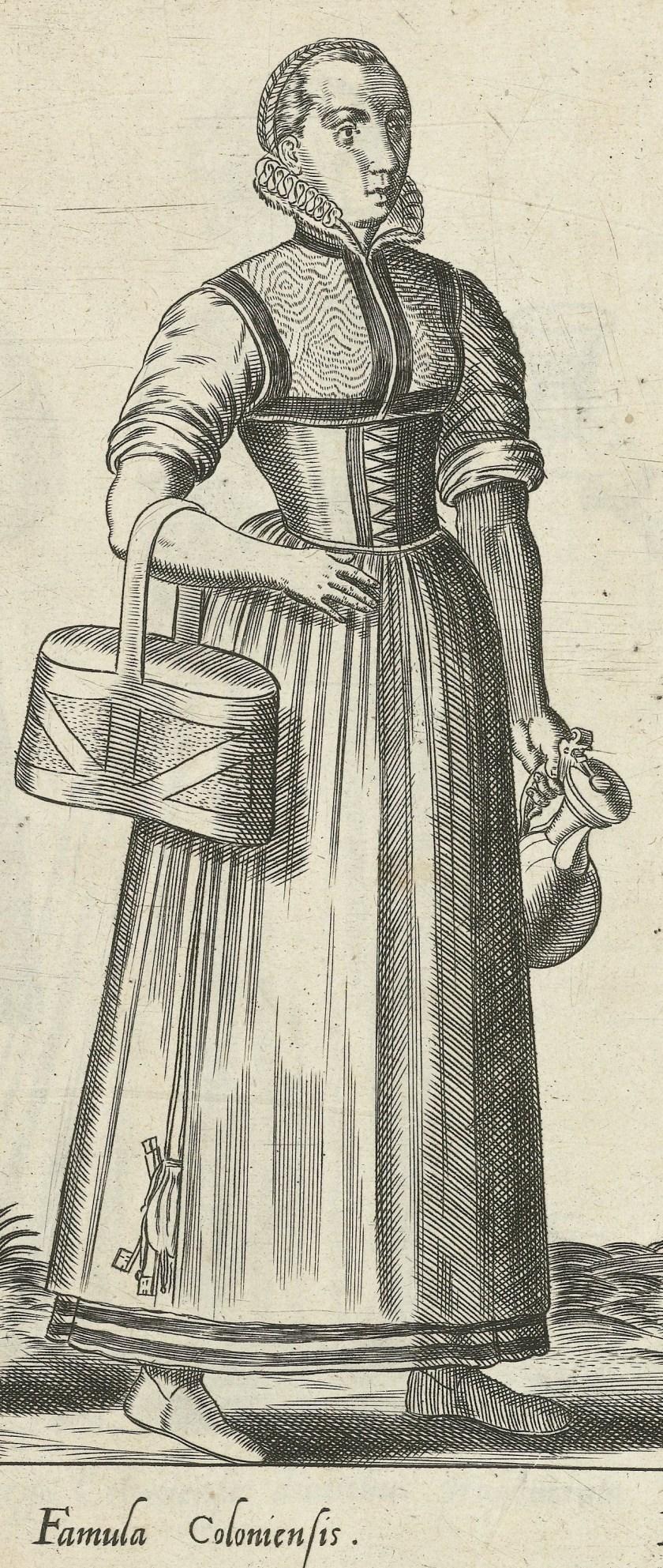 1581 Cologne, maid. Fig. 3, page 11, Omnium pene Europae, Asiae, Aphricae, Americae gentium habitus [...] de Bruyn. Rijsmuseum BI-1895-3811