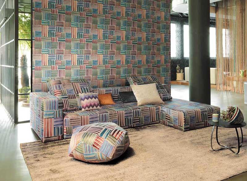 Panoramiques, icons, les tricots | shop a prezzi outlet. Missoni Palenque Wallpaper In Vinyl On Tnt