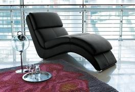 "Chaise-longue in pelle Rigo Salotti ""Mary"""