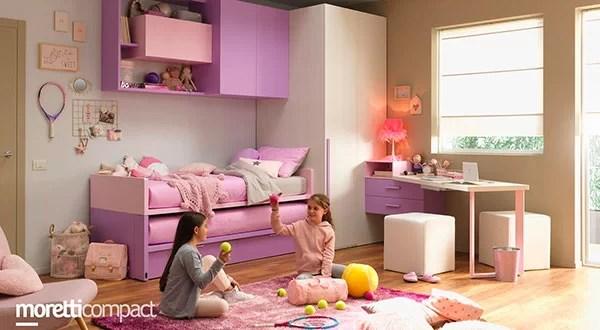 Camerette per bambini e ragazzi con sistemi di letti, armadi, librerie e scrivanie. Camerette Moretti Compact Spar E Colombini Per Ragazzi