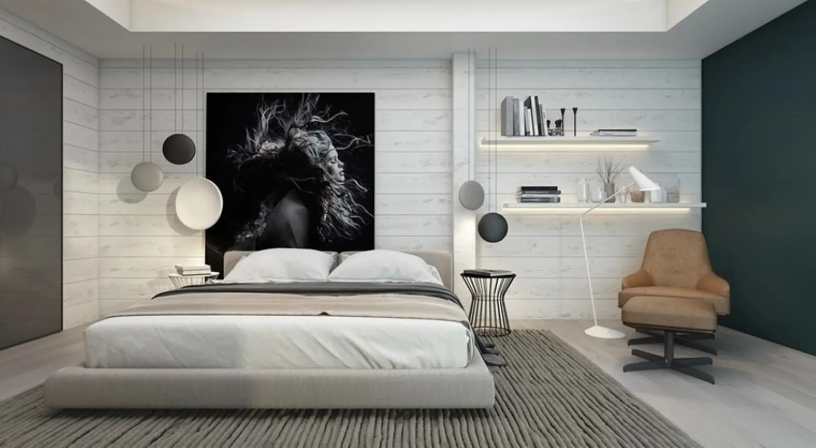 Poiché lo spazio letto della camera da letto è uno spazio geometrico, la simmetria. Quadri Camera Da Letto