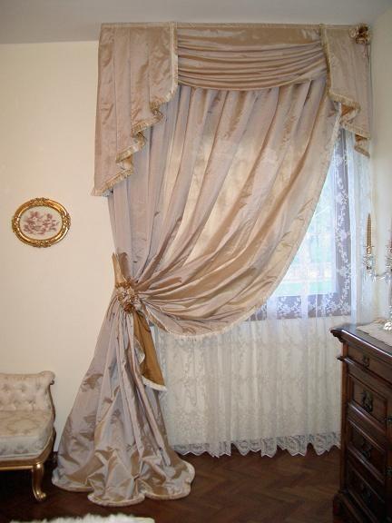 Camere da letto classiche su misura delle tue esigenze. Tende Camera Da Letto Classica Seta Broccato Pizzo Doppio Velo