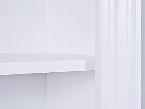 13Casa - Anna 6 Libreria, Legno massello sbiancato, 87 x 180 x 30 cm