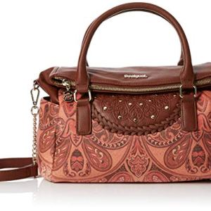 Desigual Bols_winter Valkyrie_loverty - Borsa Donna, Marrone (Leather Brown), 14x24x33 cm (B x H T)