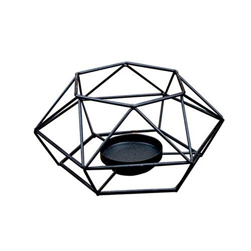 Mogist portacandele in ferro battuto candelieri creative Gift Home Decoration Crafts ornamenti, Ferro, Nero, L