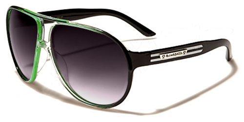 Occhiali da Sole Biohazard - Aviator - Fashion - Moda - Sport - Ciclismo - Sci - Moto / Mod. Hawai Nero e Verde