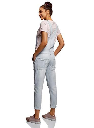 oodji Ultra Donna Salopette in Jeans con Tasche