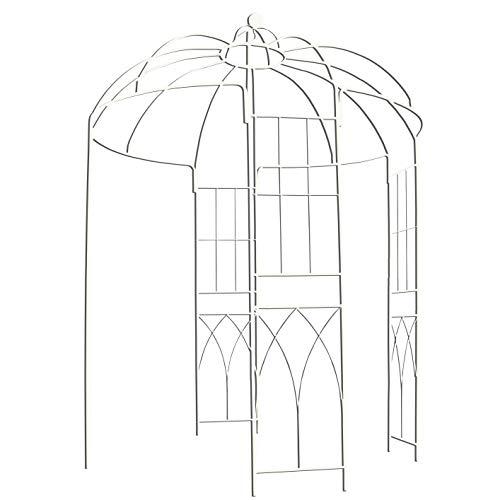 Outour®, gazebo a 4 lati a forma di gabbia per uccelli; traliccio ad arco in ferro battuto; gazebo, supporto per piante