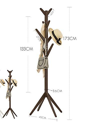 Panet Appendiabiti da Terra Appendiabiti da Terra Appendiabiti Creativo Semplice in Legno massello (Colore : B)