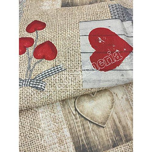 Quadrifoglio - Completo Lenzuola letto Matrimoniale 2 Piazze Cortina Tirolese Country Chic Cuori - Made in Italy -Cotone a trama fitta