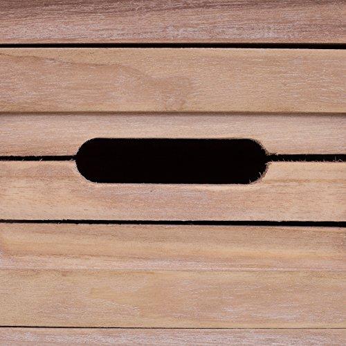 Rebecca Mobili Consolle Scrittoio 4 Cassetti Legno Paulownia Marrone Bianco Nero Blu Shabby Vintage Ingresso Soggiorno (Cod. RE4141)
