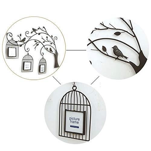 SMMBM - Cornice portafoto da Parete in Ferro battuto, Realizzata a Mano, Decorazione da Parete per Foto, Gabbia per Uccelli