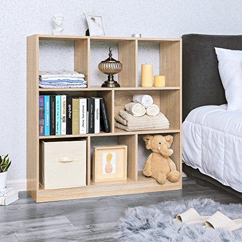 Vasagle Libreria Di Legno Con Cubi Aperti E Ripiani Scaffale Autoportante E Armadio Da Esposizione Per