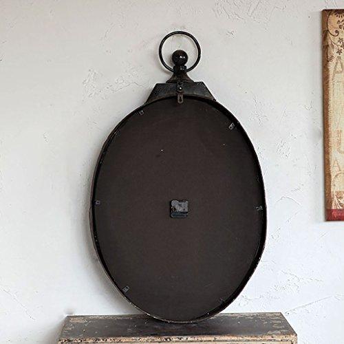 MEI Orologio da Parete Ovale in Ferro retrò Stile Country Americano del Villaggio in Stile nordamericano