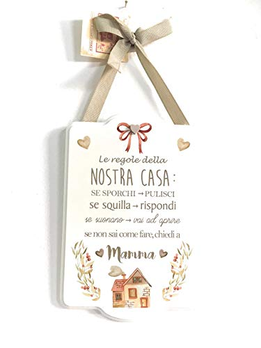 Angelica Home  Country Targa in Legno con Frase 22x15