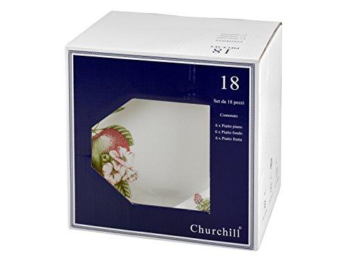 Churchill Vict Servizio 18 Pezzi Etw Decoro Victorian Orchard Arredo Tavola ETW Bianco Avorio