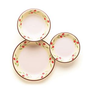 Excelsa Sweet Country Servizio Piatti 18 Pezzi Ceramica Bianco con Decorazioni
