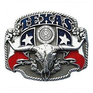 Westernlifestyle fibbia per cintura fibbia per cintura di ricambio Longhorn Texas Lone Star Country LineDance