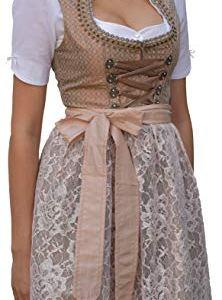 Abito tradizionale Dirndl 2 pezzi abito tradizionale con abito motivo floreale colore verdemarrone 547GT marrone 44