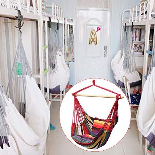 Amaca sospesa comodo dondolo con cuscino per interni ed esterni giardino patio cortile camera da letto soggiorno