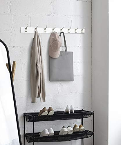 AmazonBasics  Legno Appendiabiti da parete 8 ganci moderni 92 cm Bianco