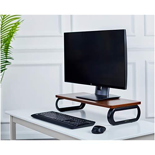 AmazonBasics  Supporto di rialzo in legno per monitor PC Noce