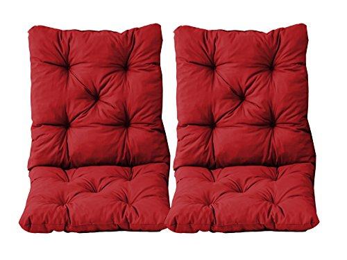AmbientehomeSet di 2Cuscini Seduta e Schienale per Sedia Hanko Circa 50x 98x 8cm Imbottito