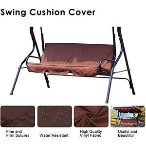 Amusingtao  Coprisedia per dondolo a 3 posti copertura impermeabile per sedia a dondolo 150 x 150 x 10 cm