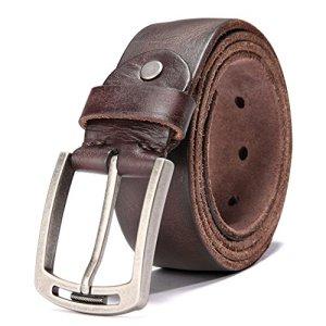 Cintura Uomo per Jeans Abbigliamento Casual Wear 125 CM40 50 Type 1b