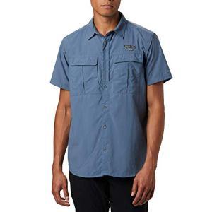 Columbia Cascades Explorer Camicia a maniche corte Uomo Blu Mountain L Art 1586261
