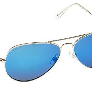 Cressi Nevada Occhiale da Sole Uomo Polarizzato SilverLente Blu