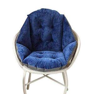 Cuscino per sedia per interni ed esterni alla moda trapuntato per camera da letto giardino divano poltrona sedia a rotelle camera dei bambini Navy Blue