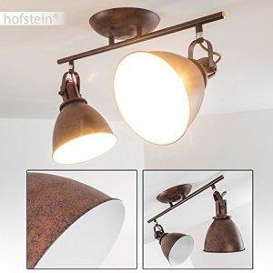 Faretti da Soffitto Modello Koppom Design Industriale Illuminazione Moderna per Cucina e Salotto Faretti Orientabili e Girevoli Color Ruggine