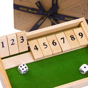Jaques of London 9s Shut The Box Dice Game  Giocattoli educativi Perfetti per 3 4 5 5 6 Anni e Grandi Giochi da Tavolo per Famiglie  Giocattoli di Legno e Giochi educativi per Bambini dal 1795