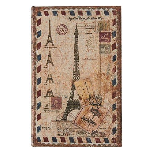 Juvale Libro scatole3Different SizeSet Country Effetto Rustico Eiffel Tower Design