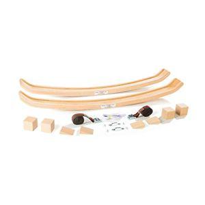 Kglis Allround Swing Sp550a  pattini in legno per  lettino  culla  sedia a dondolo  baby rocker  poltrona a dondolo  caricabile fino a 250 kg incl accessori speciali