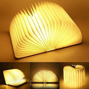 Mini legno lampada libro USB ricaricabile pieghevole LED luce del libro per DecorativoscrivaniaTavolo batterie al litio 880mAh  Luce calda