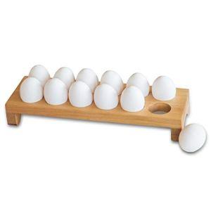 Portauovo in legno Porta dozzina porta uova Gadget da cucina professionale in legno naturale Organizzatore Contenitore Stant Espositore per casa Hotel Caff