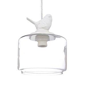 Relaxdays Lampadario Lampada a Sospensione soffitto Look Vintage e retr Uccellino Decorativo Attacco E27 40 W 120x20x20 cm