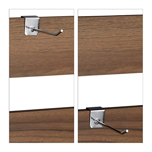 relaxdays Scrivania 2 Scomparti e Parete Posteriore Tavolo per Ragazzi  Studenti HLP 110x57x110 cm LegnoNero Truciolato Ferro Marrone Scuro 110 x 110 x 57 cm