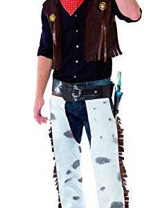 Smiffys Costume da cowboy Multicolore con panciotto pantaloni sciarpa e cappello L