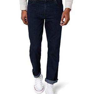 Wrangler Texas Contrast Jeans con la Gamba Dritta Uomo Blu Blue Black 002 44W  30L
