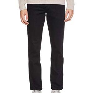 Wrangler Texas Contrast Jeans con la Gamba Dritta Uomo Nero Raven 42W  34L