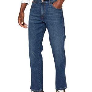 Wrangler Texas Contrast Jeans con la Gamba Dritta Uomo Blu Indigo Wit 25f 35W  30L