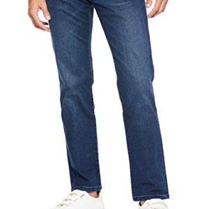 Wrangler Texas Contrast Jeans con la Gamba Dritta Uomo Blu Darkstone 3009 33W  32L