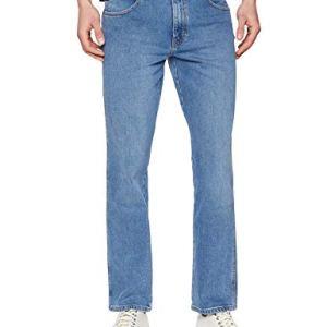 Wrangler Texas Contrast Jeans con la Gamba Dritta Uomo Blu Blue Stones 34f 30W  32L