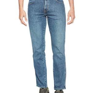 Wrangler Texas Contrast Jeans con la Gamba Dritta Uomo Verde Unchained Green 30e 32W  32L