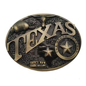Xwest Fibbia per Cinture Modern Texas Brass Heritage Belt Buckle
